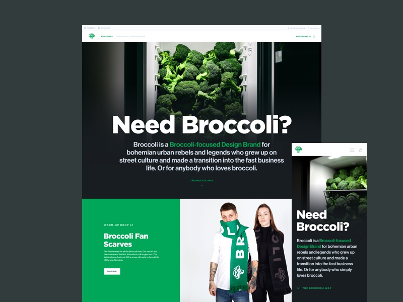 Broccoli hero dribbble
