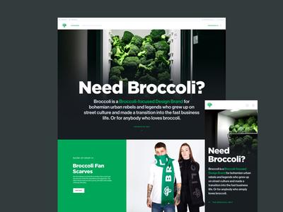 broccolistore.com hero black green apparel fridge business scarf fashion visual broccoli photo hero landing page landing ui ux
