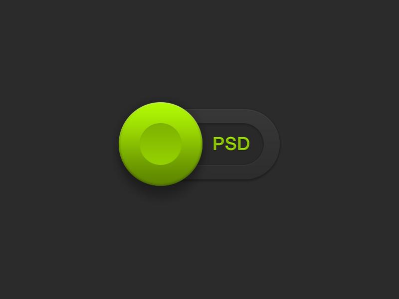 Slider PSD ui psd slider switch button download freebie green rebound playoff