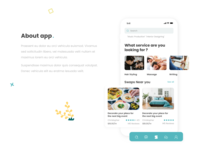 Swap service app concept