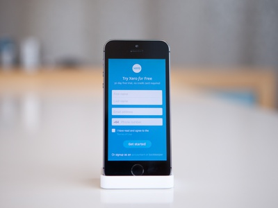 Xero responsive sign up WIP xero accounting software sign up form wip