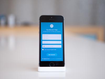 Xero responsive sign up WIP