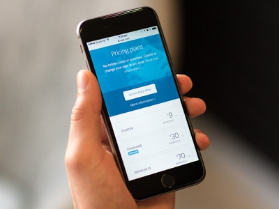 Xero Pricing – mobile pricing responsive mobile blue accounting business iphone 6