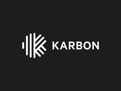 Karbon rebrand accounting karbon logo monogram rebrand brand