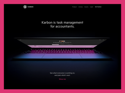 Homepage for Karbon