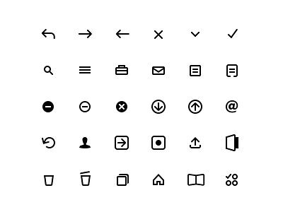 Karbon App Icons outline icon set icons