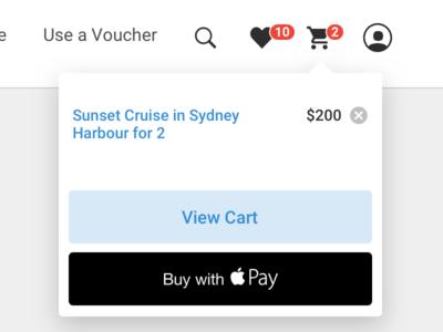 eCommerce cart dropdown