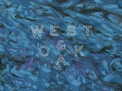 WEST&OAK packaging identity branding logo