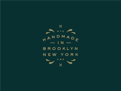 Handmade branding design typography logo mark