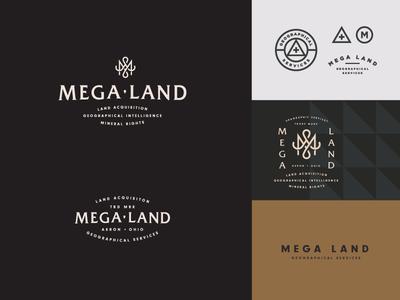 Mega Land design typography wip logo