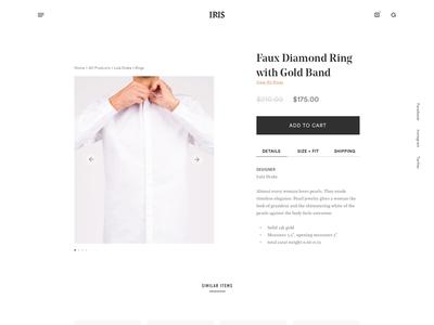 Details Page ecommerce sketch ui wireframes webdesign design