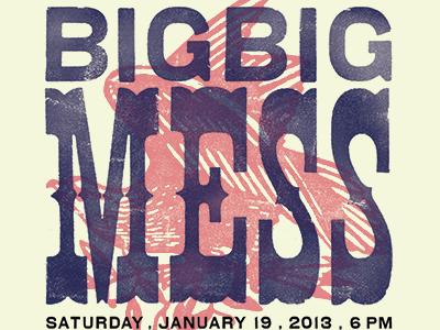 Big Big poster letterpress woodtype texture vintage