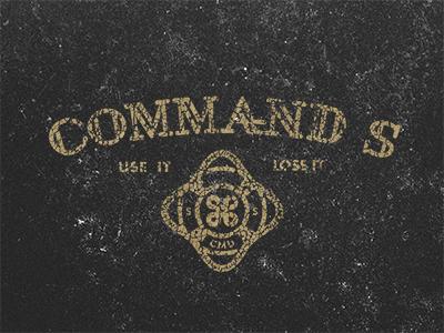 Command S typography design texture
