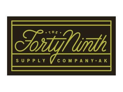Forty Ninth logo design identity