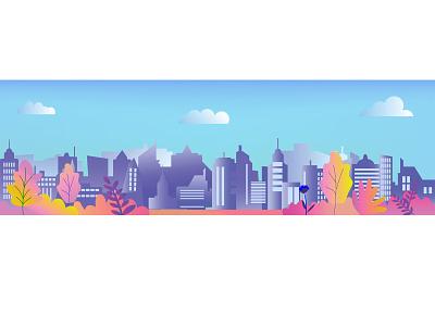 20 cityscape urban landscape panoramic adobe illustrator digital banner handdrawn illustration design vector illustrator