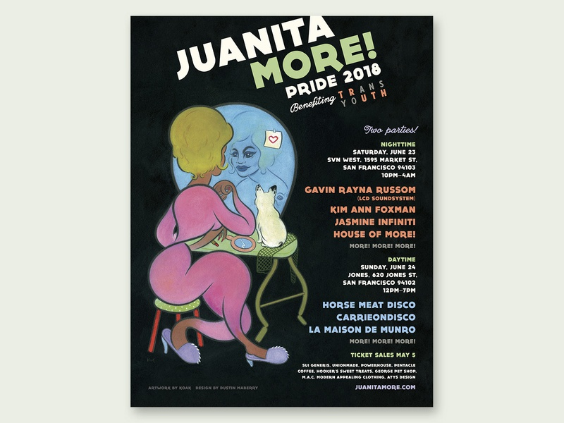 Juanita MORE! Pride Party 2018 Poster