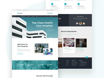 Hospital Landing Page patient nurse company doctor medical healthcare health landingpage hospital ui uidesign frontend apps website