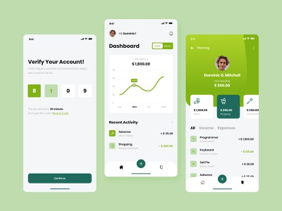 Money Management Mobile Application Concept expenses income management fintech finance money app modern clean design mobile ios uidesign ui apps