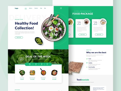 Healthy Food Landing Page garden market ecommerce fresh food healthy landingpage design frontend website uidesign apps ui