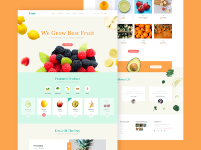 Fruit shop landing page healthy vegetable fruit agency landingpage ecommerce design frontend website uidesign ui