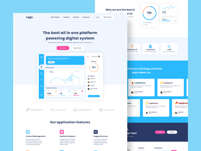 SAAS Software Landing Page ui design web business website apps clean saas landing software website saas website uidesign frontend landingpage