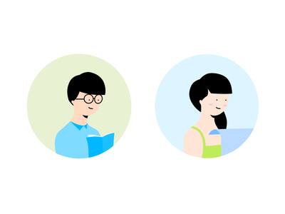 Illustration for Profile Education App apps mobile vectornator simple vector education gender profile pastel flat illustration