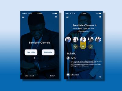 #DailyUI #006 User Profile UI Design