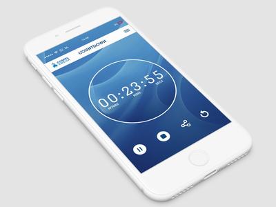 UI Timer Design #dailyui Mockup