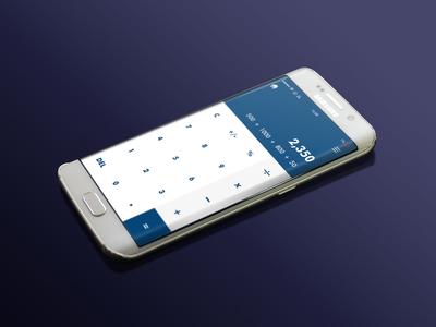 Calculator UI screen #dailyui