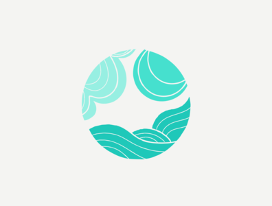 Sea, Sun, and Sky chattanooga emblem design logo design type emblem sun moon sky ocean sea water