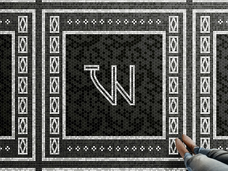 Workshop Fauxsaic mosaic tile illustration chattanooga