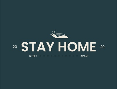 Stay Home 2020 corona coronavirus covid-19 covid wash hands hands typography logo design chattanooga