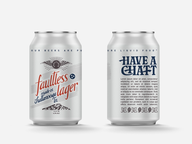 Chattanooga Brewing Faultless Beer Can retro vintage can design lager faultless beer can beer chattanooga