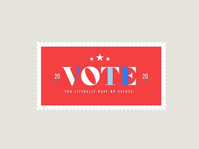 Vote 2020 logo design typography chattanooga