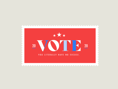 Vote 2020 logo design typography chattanooga