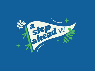 A Step Ahead Pennent email non profit empowerment female birth control branding procreate typography illustration chattanooga