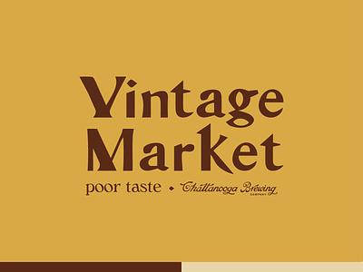 Vintage Market vintage design serif type chattanooga typography illustration vintage logo market vintage