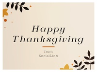Happy Thanksgiving from SocialLion