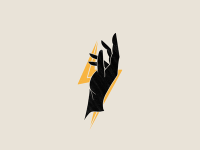 Hand + Lightning Illustration ios procreate illustration chattanooga