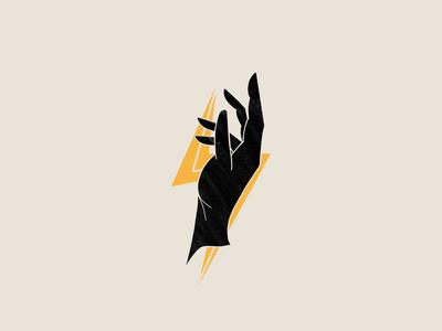 Hand + Lightning Illustration