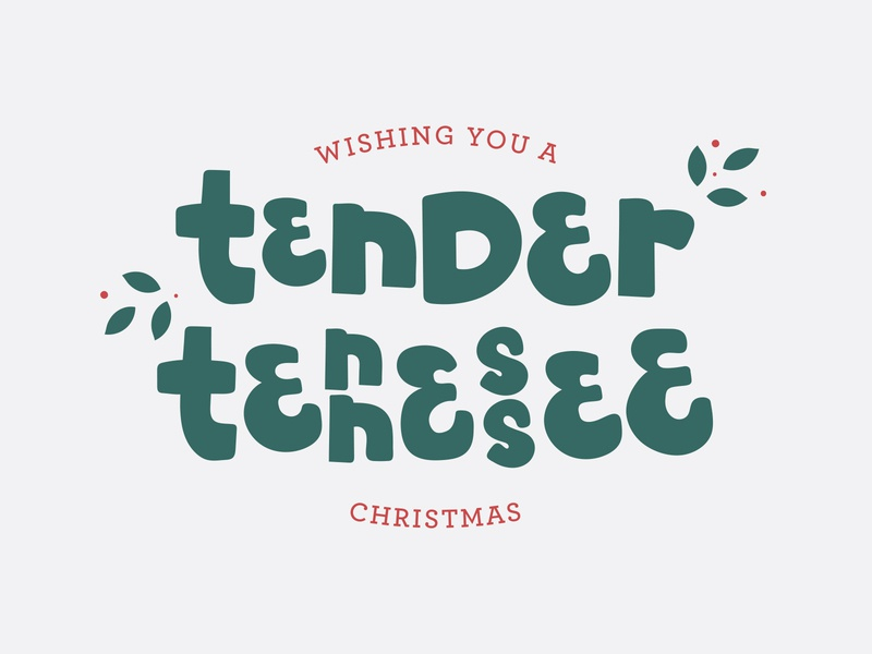Tennessee Christmas Card lettering postcard christmas card lyrics illustration chattanooga tennessee tn christmas amy grant