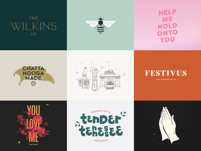 Top 9 of 2019 2019 tope 9 top nine top9 typography logo design illustration chattanooga
