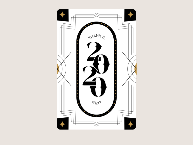 2020 Art Deco 2020 trend typography type art deco chattanooga happy new year new year 2020 thank u next