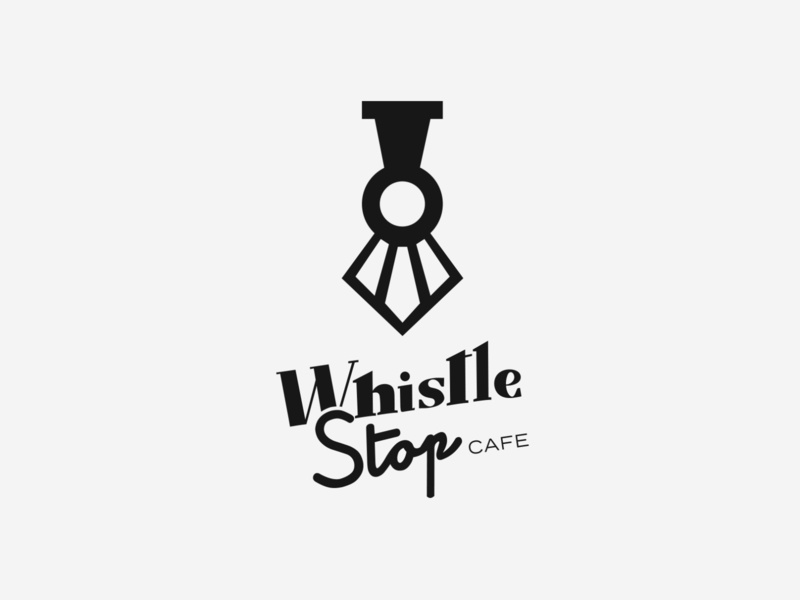 Whistle Stop Cafe Branding train logo trains restaurant design cafe train whistle stop whistlestop branding design typography logo design chattanooga