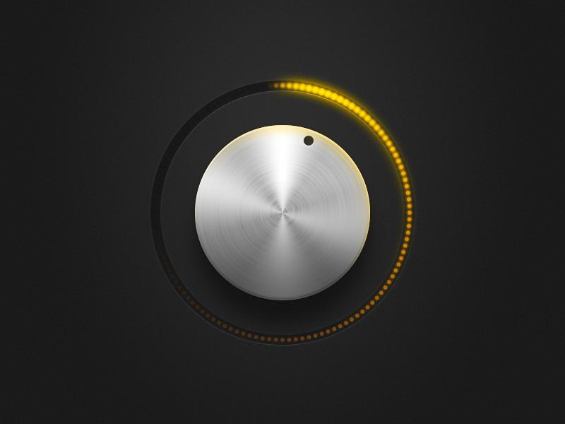 Knob PSD freebie freebie psd download knob light glow volume