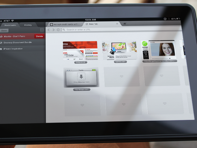 iPad Browser PSD web freebie psd download ipad browser