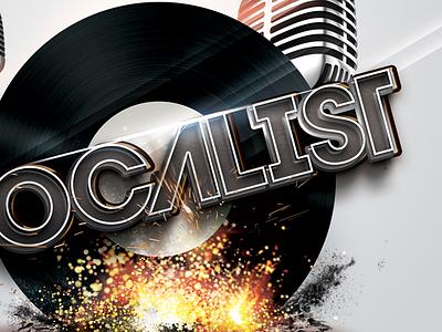Vocalist iPad splash ipad app sparkles mic vinyl explotion