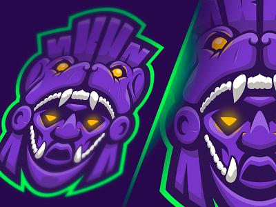 Gamer Mexico warrior jaguar logo esports mascot esportslogo méxico mexico mask mayan e-sports esports logo esports
