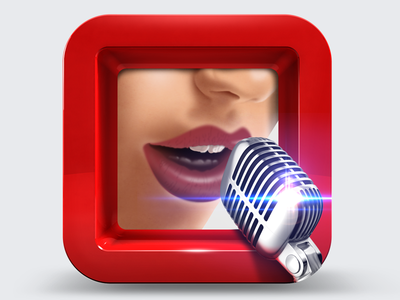 Vocalist icon singer singing mic microphone female frame phone icon