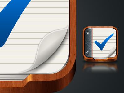 TaskBox icon iphone icon task wood paper